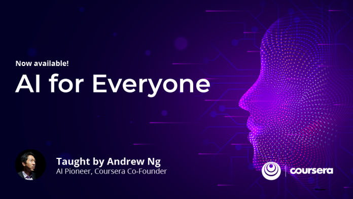 """AI for Everyone"": new course from deeplearning.ai now available on Coursera"