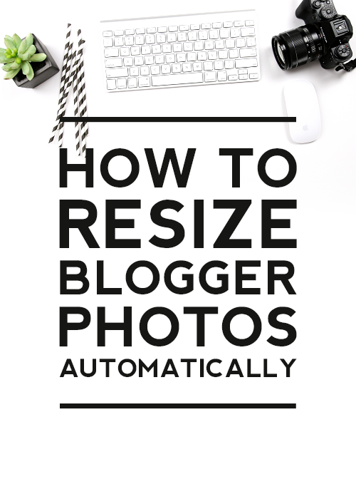 Comment on How to Resize Blogger Photos Automatically by Michael Demers