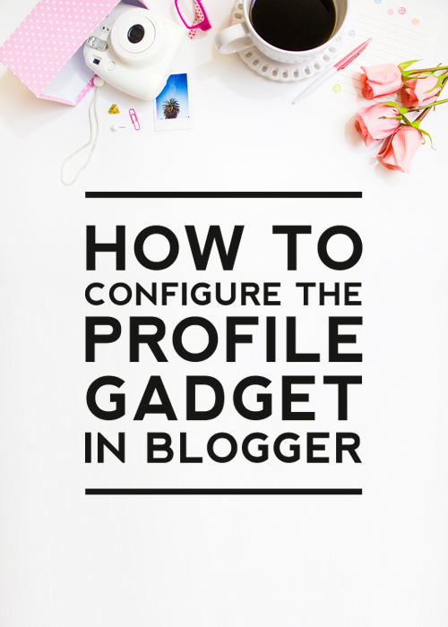 How to Configure the Profile Gadget
