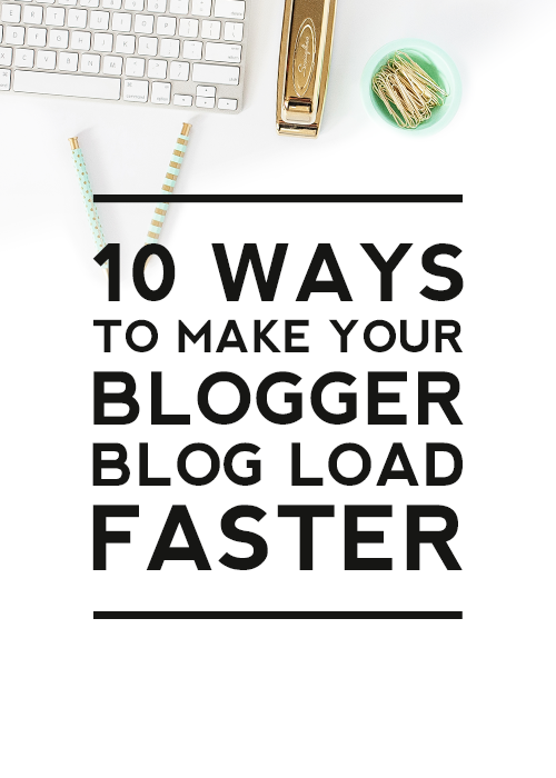 Comment on 10 Ways to Make Your Blogger Blog Load Faster by Econ Dude