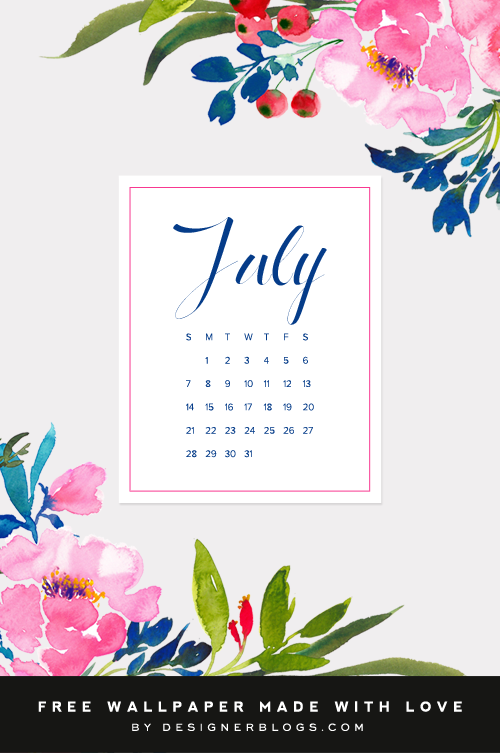 Comment on Free July Wallpaper by Karen Cline
