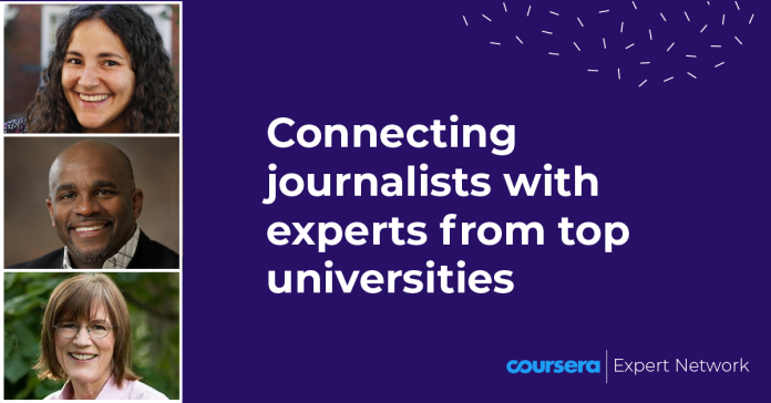 Coursera | Expert Network: Connecting Journalists with Experts from Top Universities