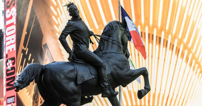 Lesson of the Day: 'Kehinde Wiley's Times Square Monument: That's No Robert E. Lee'
