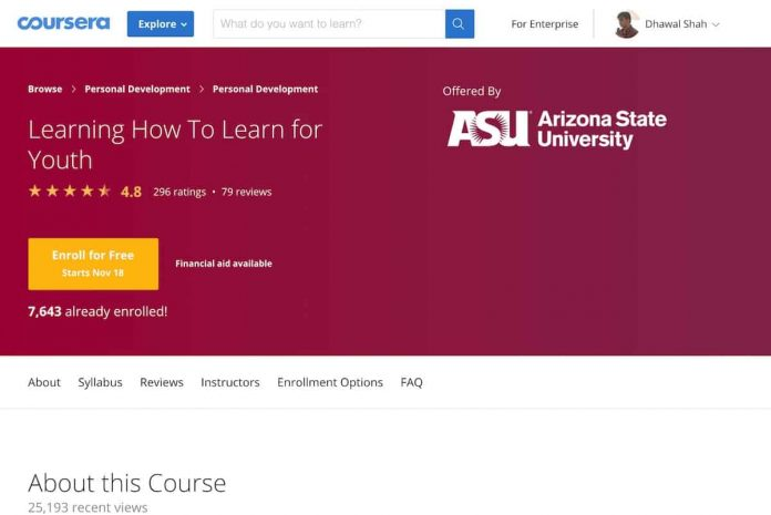 On Coursera, Courses now Start Every Day