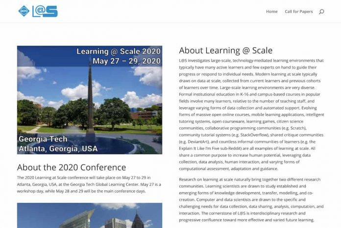 Call for Papers: Seventh Annual ACM Conference on Learning at Scale 2020