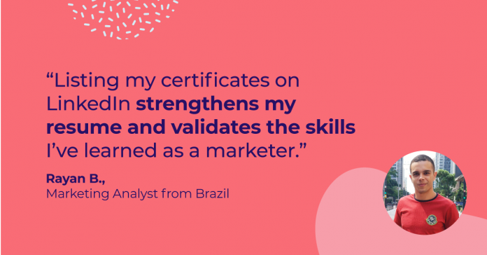 See how Rayan found a new career path in digital marketing