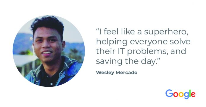 How Wesley went from Part-Time Cook to Full-Time IT Support Technician