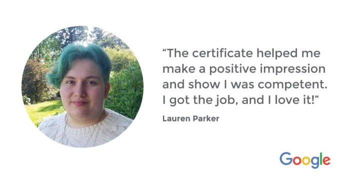 How Lauren turned a hobby into a successful IT career