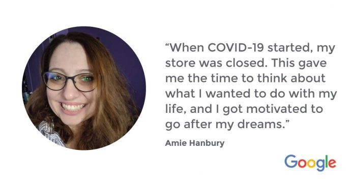 How Amie launched a new career in IT during COVID-19