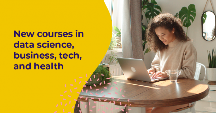 Trending online courses in business, data science, tech, and health