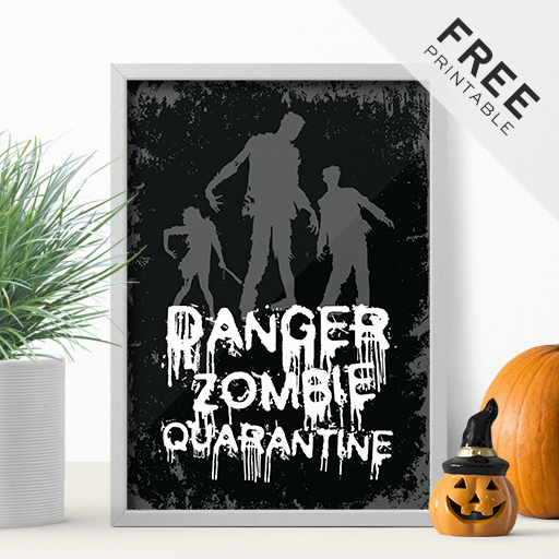 Spooky Freebie Full Of Zombies – Halloween Printable Poster