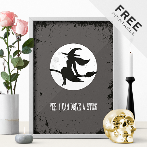 Yes, I Can Drive a Stick – Spooktacular Halloween Freebie
