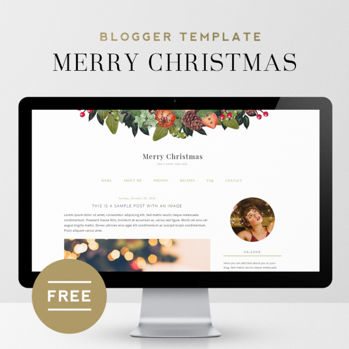 Merry Christmas | Free Holiday Blogger Template