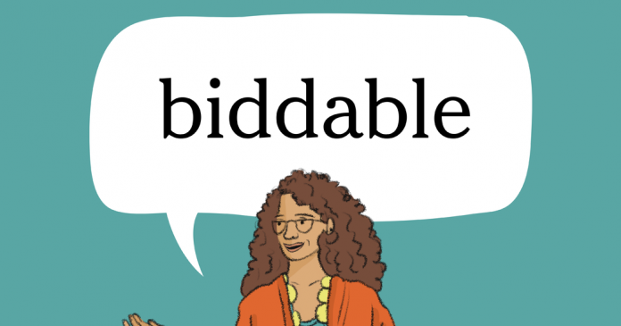 Word + Quiz: biddable