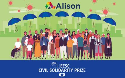 Alison wins the EESC Civil Solidarity Prize