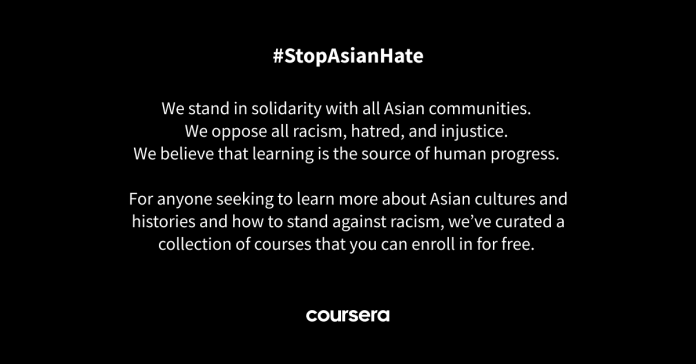 We stand in solidarity with all Asian communities
