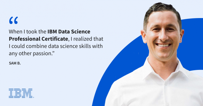 How Sam discovered a passion for data science through his love of music