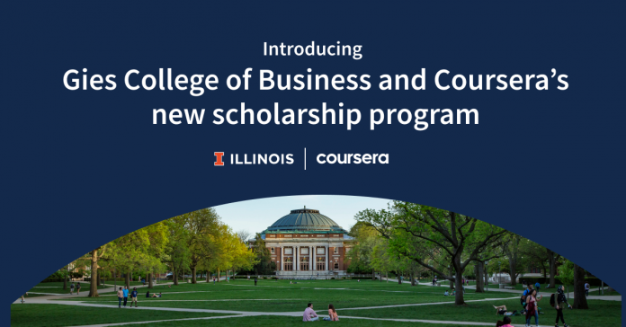 Gies College of Business partners with Coursera to offer scholarships to degree students