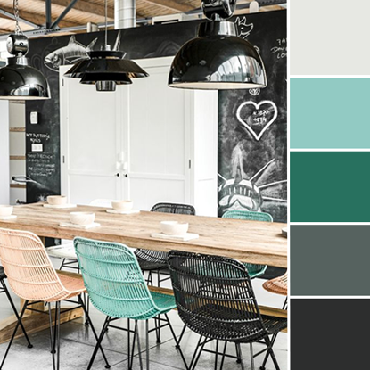 Color Love | Turquoise & Charcoal