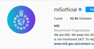 Lesson of the Day: 'The U.K. Spy Agency MI5 Joined Instagram. It Wasn't for the Likes.'