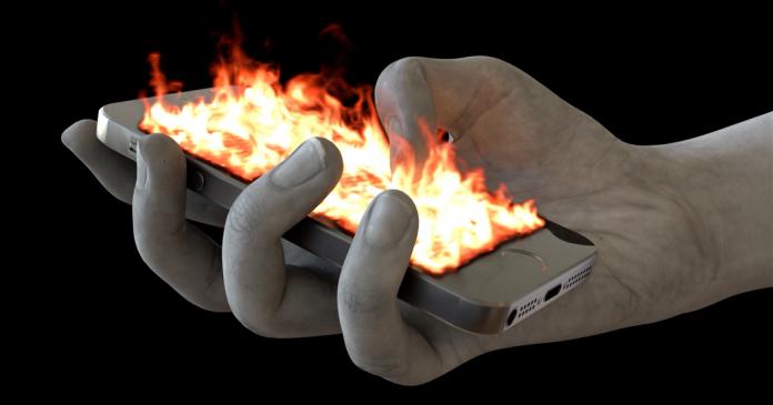 Flaming Phone