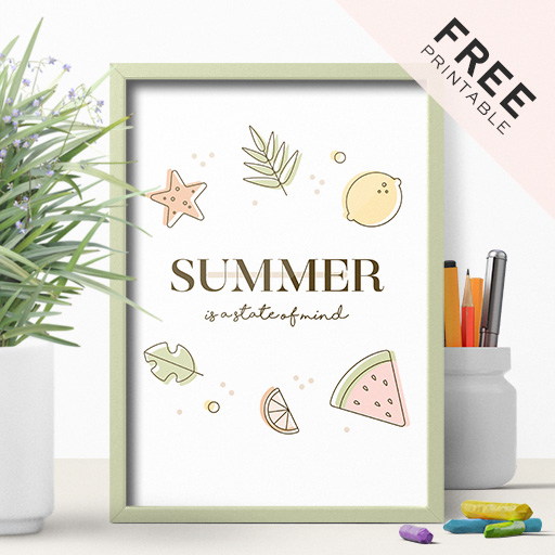 Free Summer Printable Poster – Perfect For Office Decoration