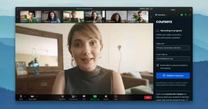 Live2Coursera app for Zoom now available to help educators bridge the digital divide